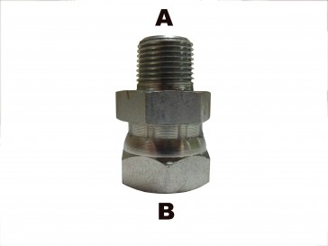 "3/8"" Male Pipe to 1/4"" Female Pipe Swivel"