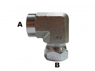"""1/2"""" Female Pipe to 1/2"""" Female Pipe 90 Elbow Swivel"""