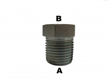 """1/2"""" Male Pipe to 3/8"""" Male Pipe  Reducer Bushing"""