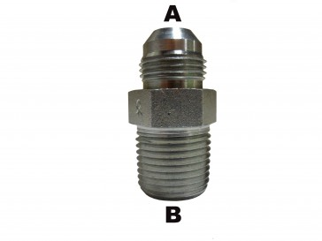 "#8 Male JIC to 3/4"" Male Pipe Nipple"