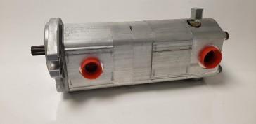 Prince Double Gear Pump .976/.86 Cu In, 9 Tooth 16/32 Spline, w/ Priority Flow Divider