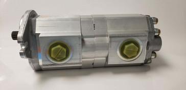 "Prince Double Gear Pump 2.318 cu in, SAE ""B"" 2-Bolt mount, 13 Tooth 16/32 Spline"