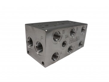 D03 Series w/ Relef Cavity Solenoid Valve Manifold AD03-S-032-S-C