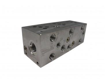 D05 Series w/ Relief Cavity Solenoid Valve Manifold AD05-S-033-S-C