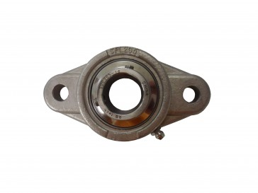 """1 3/16"""" ID SUCSFL Series 2-Bolt Flange Stainless Steel Bearing"""