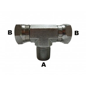 "1/2"" Male Pipe to 1/2"" Female Pipe Swivel Branch Tee"