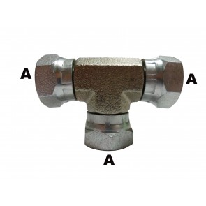 "1/4"" Female Pipe Swivel Branch Tee"
