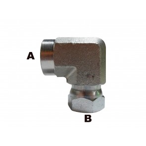 "1/2"" Female Pipe to 1/2"" Female Pipe 90 Elbow Swivel"