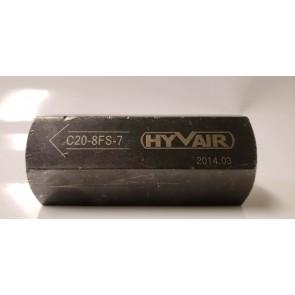 Hyvair C20-8FS-7,  #8 SAE, 3000 PSI Inline Check Valve