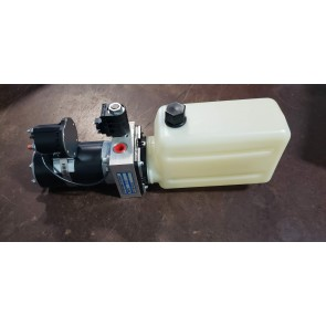MTE Hydraulic Power Unit 12 VDC, Single Acting, 1.6 Qt Poly Tank