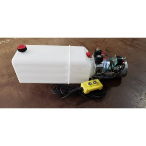 MTE Hydraulic Power Unit 12 VDC, Double Acting, 2 Gallon Poly Tank, 1.2 GPM
