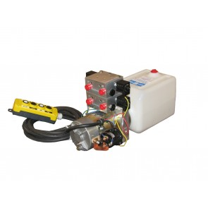 12V DC 4-Way Hydraulic Power Unit 1.25 GPM @ 1750 PSI