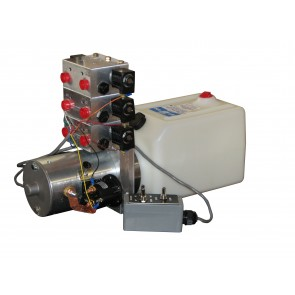 12V DC 6-Way Hydraulic Power Unit 1.25 GPM @ 1750 PSI