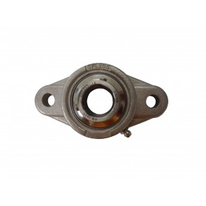 "1 3/16"" ID SUCSFL Series 2-Bolt Flange Stainless Steel Bearing"